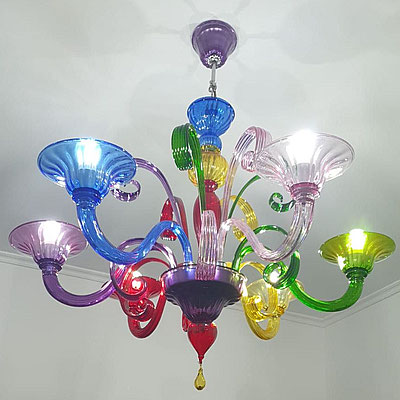 Chandeliers Murano Colorful Modern Colorfull Serie
