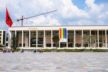 Oper in Tirana, der Hauptstadt Albaniens