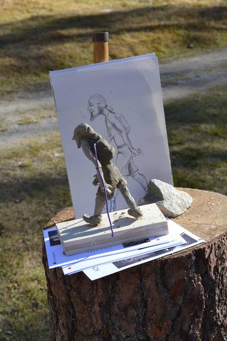 Skizze Holzskulptur