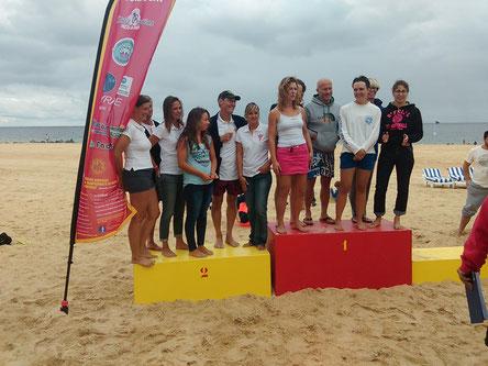 Podium Femme Championnat de France surfboat 2014