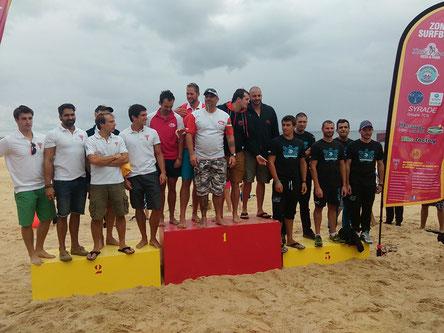 Podium Homme Championnat de France surfboat 2014