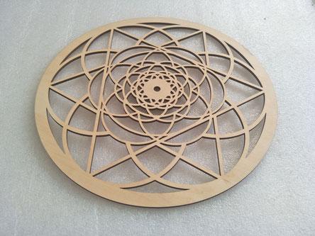 plywood flower laser cutting