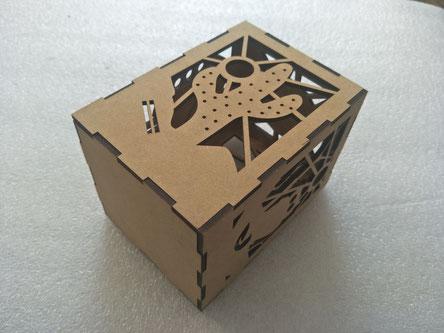 MDF box laser cutting