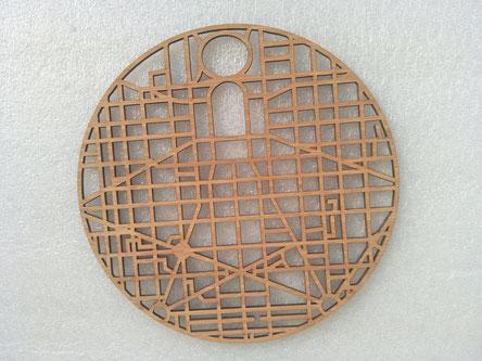 Bamboo disc laser cutting