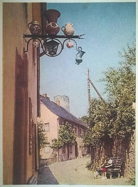 AK - Kohren-Sahlis, idyllischer Winkel in der alten Töpferstadt