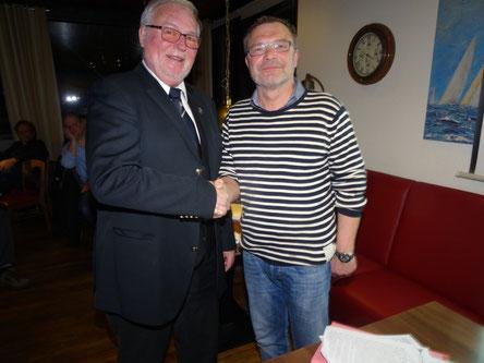 Der alte und der neue 1. Vorsitzende, Dr. Jan Bühner und Jörn Pietschke