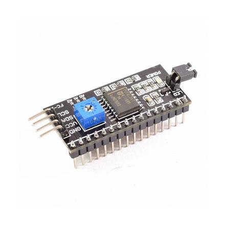 modulo para pantalla LCD, lcd serial, guatemala, electronica, electronico, modulo pcf8574t, interfaz i2c, pcf8574t