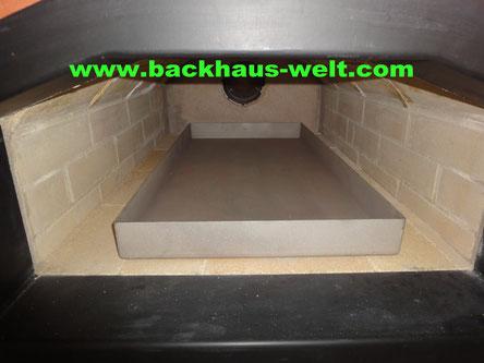 Spanferkel, Spanferkelwanne für Holzbackofen, Pizzaofen, Backhaus, Steinbackofen