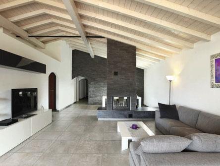 Pavimento in ceramica effetto cemento colore grigio
