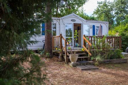 camping mobile home dordogne france @etangdebazange