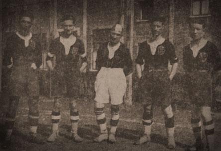 1924-25 da sx:Bonelli,Gianelli,Bellolio,Crotti e Gaviglio