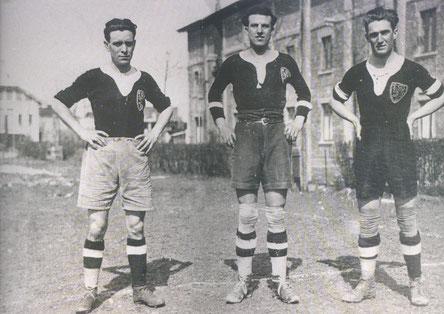 1924-25 da sx:Ghiglione,Bonzani e Gatti