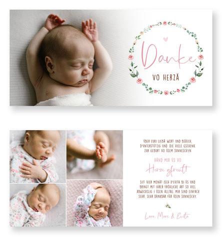 Evita Dankeskarte im Querformat