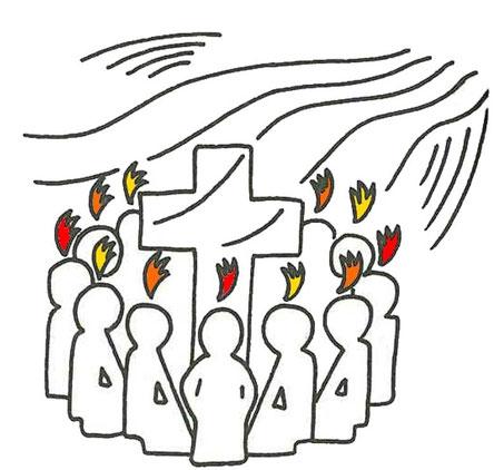 Der Heilige Geist erfüllt die Christen.