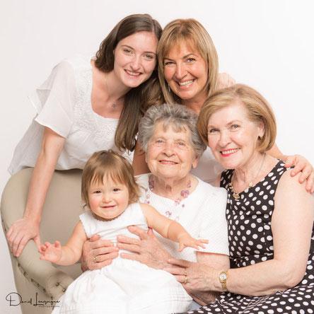 Portrait de famille 5 générations - réalisé au studio