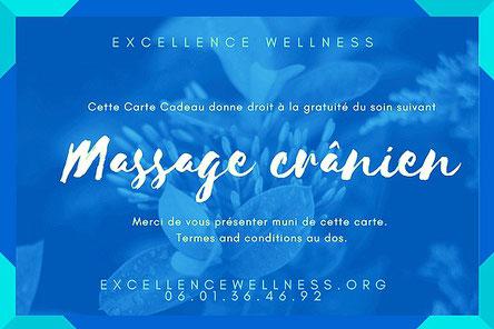 massage bien etre biarritz, cranien offert