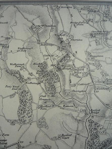 Drakes Broughton area before the railways