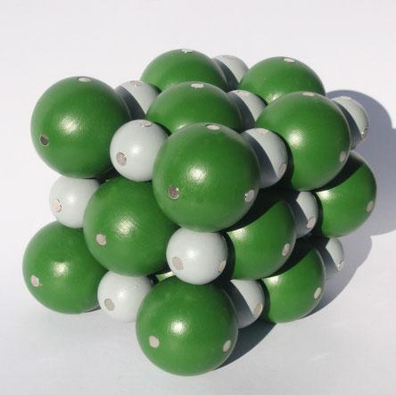 NaCl Modell Kochsalz Gittermodell Kochsalzgitter Natriumchlorid magnetmodell kristallgitter