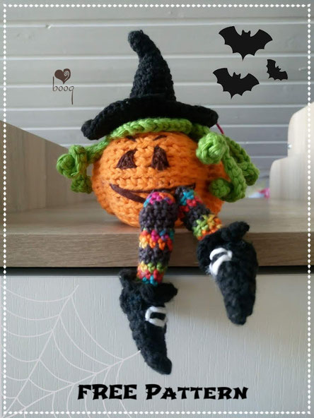 halloween witches pumpkin crochet amigurumi free pattern - boogID