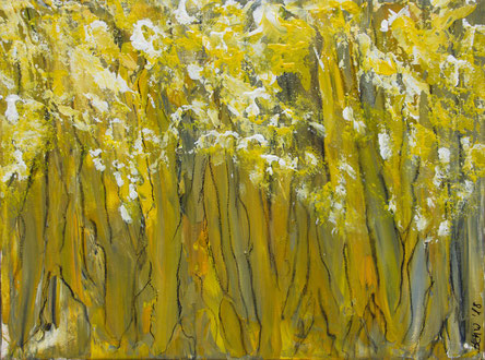 """Wald 1"", Acryl auf Leinwand, 40x30 cm"