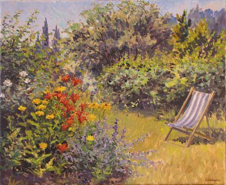 Tony Wahlander (Wåhlander) un jardin à Barjols