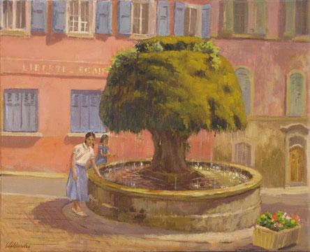 Tony Wahlander (Wåhlander) la fontaine de Barjols