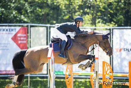 Pablo Valle Espinedo uit Spanje won de eerste juniorenproef op Insolite van 't Molenvondel (v. Toulon). Foto FotoTrailer