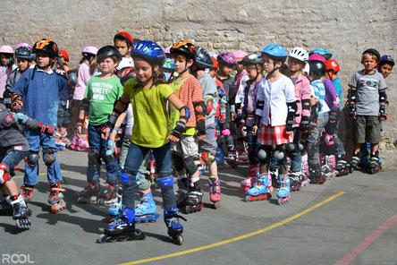 Rool - Apprentissage du Roller avec groupe d'enfants