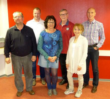 Der neue Vorstand der NABU-Gruppe Montabaur und Umgebung (v. l. n. r.): Johannes Zühlke, Roger Best, Marita Kringe, Robert Stephan, Petra Mantas und Bernhard Kloft