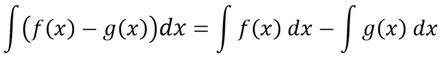 Die Differenzenregel der Integration als allgemeine Formel