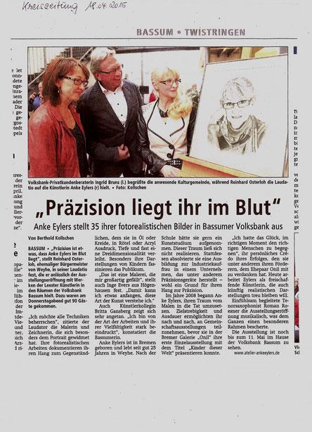 Kreiszeitung 18.04.2015