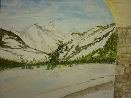 Blick auf die Berge - Februar 2016