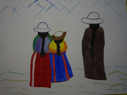 Blick auf die Anden - nach Vorlage Feb.2015