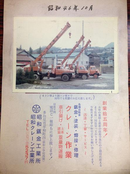 昭和40年代の昭和クレーン!ちょっと変わった昔のクレーンたち