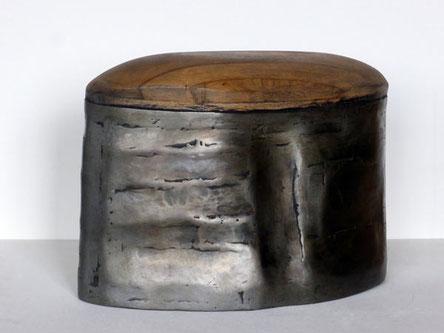 Gerda Bier - GEWAPPNET 2019  Holz, Eisen - 26 x 38 x 17 cm