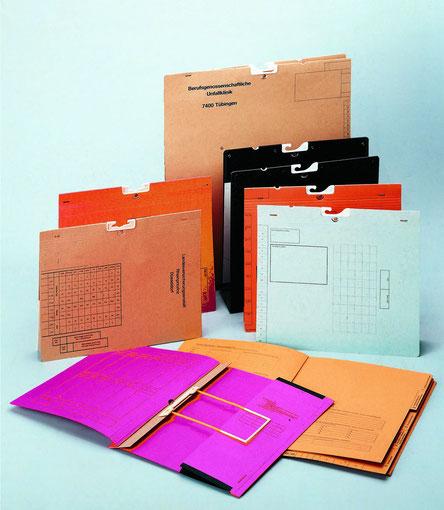 Akten mit Kunstoffträgern Kunststoffpendelakten Z-Beschlag aus Kunststoff