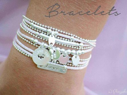 Bracelets créatrice Cadeaux Maman Papa Mamie personnalisés Noël