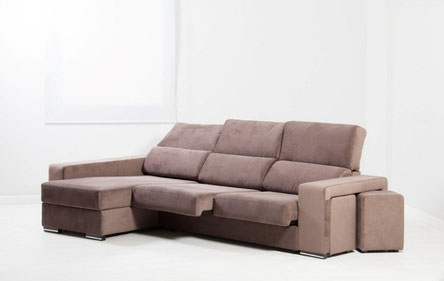 Sofá deslizante, 3 plazas más chaise longue