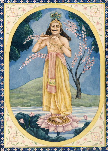Meher Baba as Krishna by Judith Ernst