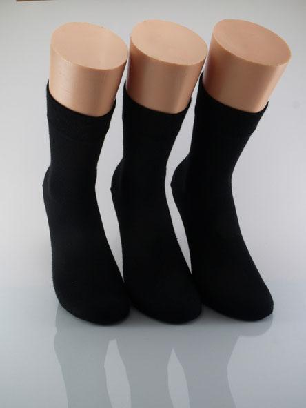 Bild: Damensocken ohne Gummi schwarz, Strumpf-Klaus