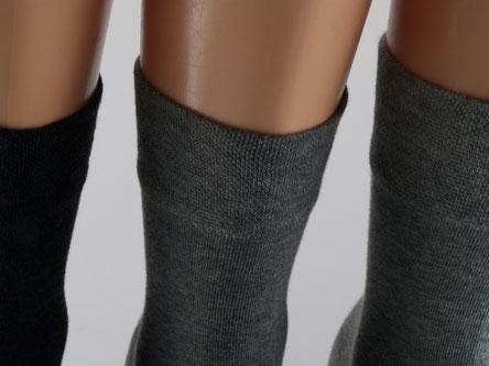 Bild: Damensocken ohne Gummi grau, Strumpf-Klaus