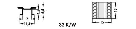 FK 251 06 LF PAK Fischer 表面実装用ヒートシンク