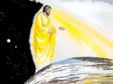 Dieu n'a confié son dessein qu'à Jésus-Christ. Il lui a donné tout pouvoir dans le ciel et sur la terre.
