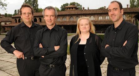Rodin-Quartett. Von links: Urban, Wandel, Korkeala, Weigel