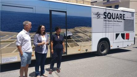 Valletta 2018's Square Photographic Exhibition Launch, Willi, the Programm Director Joanne Mallia and Lisa