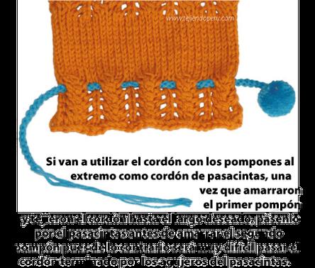 cordon pompones tejiendoperu.com