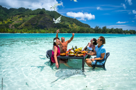 Picnic on a Motu in Tahiti