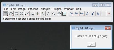 Error: Unable to load plugin (ins)
