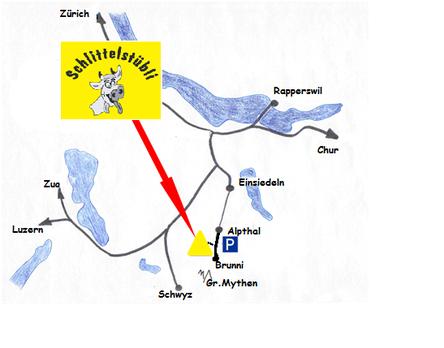 Anfahrt Karte Zürich Einsiedeln Alpthal