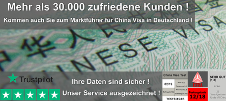 China Visa Online in wenigen Minuten